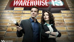 Warehouse 13 &#8211; Eddie Mcclintock Torch In Hand And Joanne Kelly